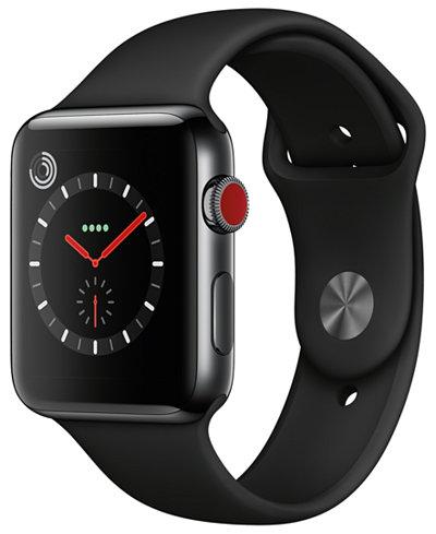 Apple Watch Series 3 (GPS + Cellular), 42mm Space Black