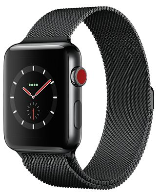 Apple Watch Series 3 (GPS + Cellular), 42mm Space Black ...