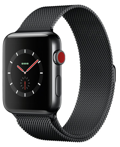 Apple Watch Series 3 (GPS + Cellular), 42mm Space Black ...