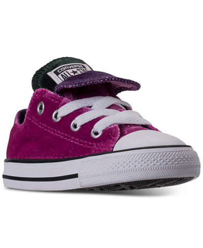 Converse Toddler Girls' Chuck Taylor All Star Velvet Double Tongue Casual Sneakers from Finish Line