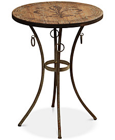 Bowyn Round Side Table, Quick Ship
