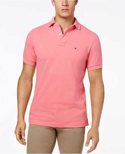 79a022839 Tommy Hilfiger Men's Classic-Fit Ivy Polo & Reviews - Polos - Men ...
