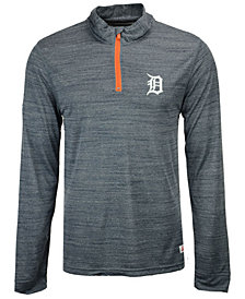Dynasty Men's Detroit Tigers Poly Twist Mock Quarter-Zip Pullover