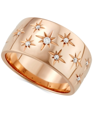 27d311f824fa5 Diamond Star Wedding Band (1/6 Ct. T.W.) In 18K White Gold, Gold Or Rose  Gold, Created For Macy'S
