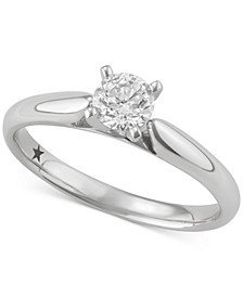 Solitaire Engagement Ring (1/2 ct. t.w.) in 14k White Gold, SI2 Clarity