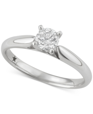 Solitaire Engagement Ring (1/2 ct. t.w.) in 14k White Gold