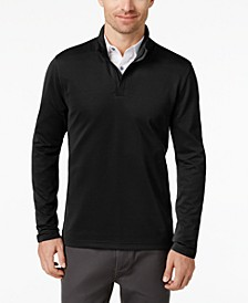 Men's Ottoman Quarter-Zip Stretch Knit, Created for Macy's