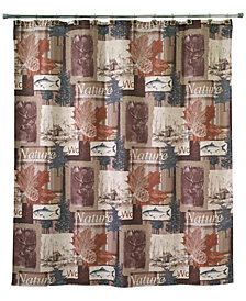 "Avanti Nature Walk Graphic-Print 72"" x 72"" Shower Curtain"