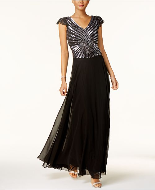 a8b6ba2eed72 J Kara Hand-Beaded Sequined Gown & Reviews - Dresses - Women ...