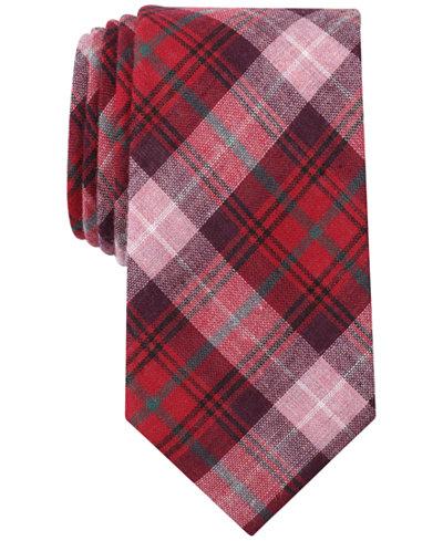 Bar III Men's Perica Plaid Skinny Tie, Created for Macy's