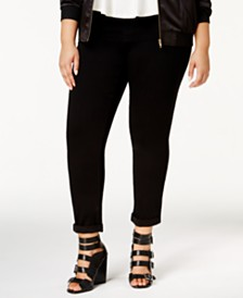 Seven7 Jeans Trendy Plus Size Tummy-Less Skinny Jeans