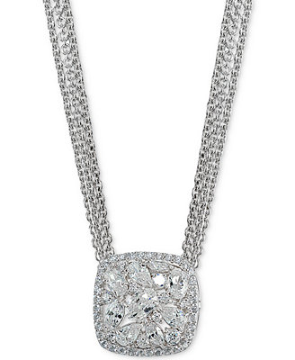 Crystal Cluster Multi Chain Pendant Necklace, Created For Macy's by Giani Bernini