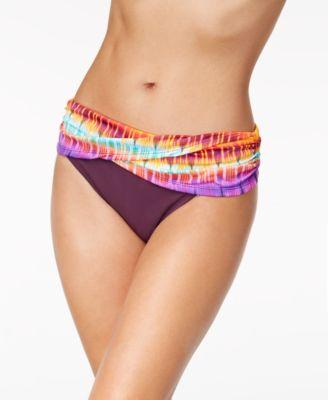 Printed Sarong Bikini Bottoms