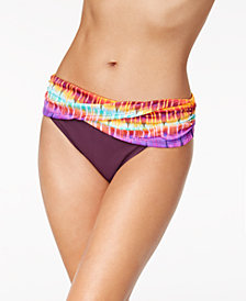 Bleu By Rod Beattie Printed Sarong Bikini Bottoms