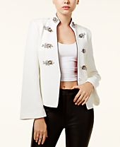 XOXO Juniors' Embellished Bell-Sleeve Blazer