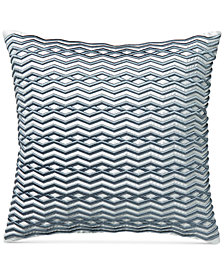 "Hotel Collection Diamond Stripe 18"" Square Decorative Pillow, Created for Macy's"