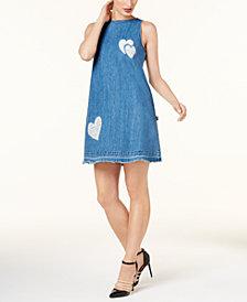 Love Moschino Cotton Chambray Shift Dress