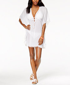 Bleu by Rod Beattie Pom Pom Caftan Cover-Up