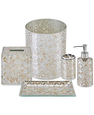 Jla home cape mosaic bath accessories a macy 39 s exclusive for Mosaic bathroom set