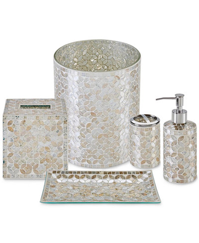 gold crackle bathroom accessories. JLA Home Cape Mosaic Bath Accessories  a Macy s Exclusive Style Bathroom Sets and