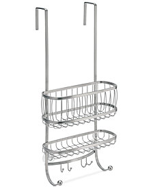 Interdesign York Silver 2-Tier Shower Caddy with Hooks