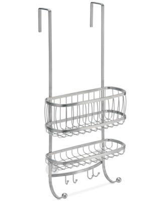 Interdesign York Silver 2 Tier Shower Caddy With Hooks