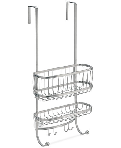 Interdesign York Silver 2-Tier Shower Caddy with Hooks - Bathroom ...