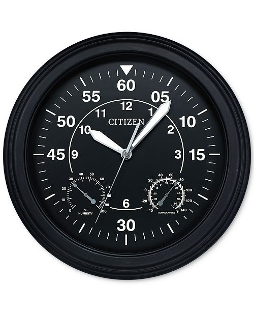Citizen Outdoor Black Wall Clock