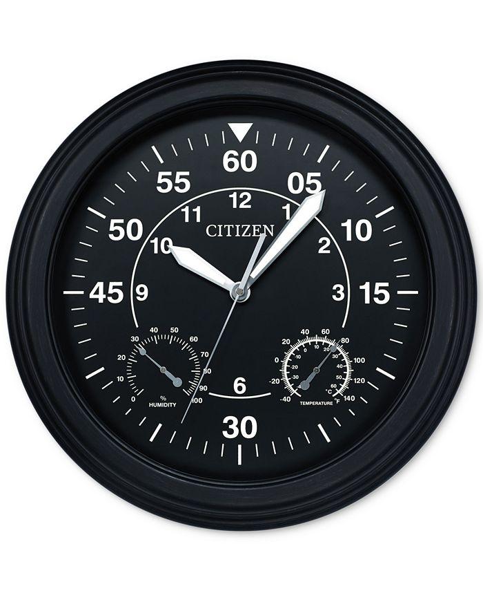 Citizen - Outdoor Black Wall Clock
