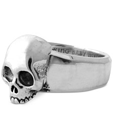 King Baby Men's Hamlet Skull Ring in Sterling Silver