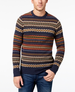 Men's Vintage Style Sweaters – 1920s to 1960s Barbour Mens Wool Fair Isle Sweater $89.40 AT vintagedancer.com