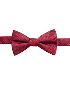 Ryan Seacrest Distinction™ Men's Kent Unsolid Pre-tied Silk Bow Tie, Created for Macy's