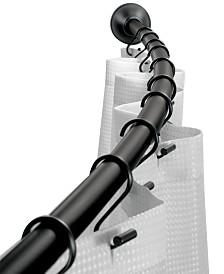 """Interdesign Curved Matte Black Shower Curtain Rod 41""""-72"""""""
