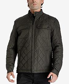 London Fog Men's Zip-Front Quilted Jacket