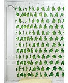 "Interdesign 54"" x 78"" Turtle-Print Shower Curtain Liner"