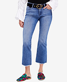Free People Raw-Hem Straight Crop Jeans