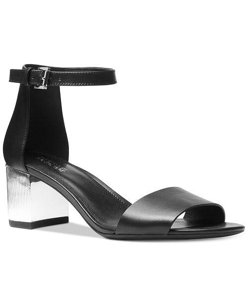 624e5e2912d8 Michael Kors Paloma Metallic Block-Heel Sandals   Reviews ...