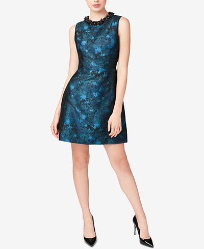 Betsey Johnson Beaded Jacquard Dress