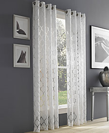 J Queen New York Geneva White Semi-Sheer Grommet Curtain Panel Collection