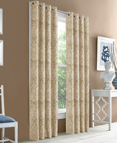 J Queen New York Hampton Blackout Grommet Curtain Panels