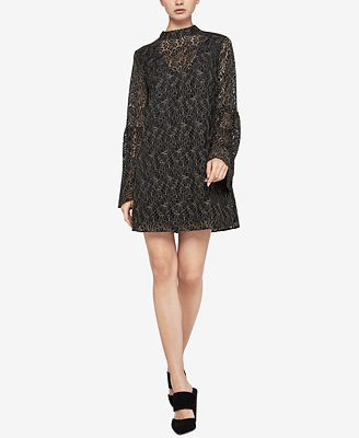 BCBGeneration Corded Lace Bell-Sleeve Dress