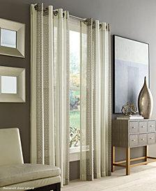 """J Queen New York Roosevelt Sheer 50"""" x 95"""" Grommet Curtain Panel"""