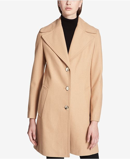 Calvin Klein Oversized-Collar Walker Coat