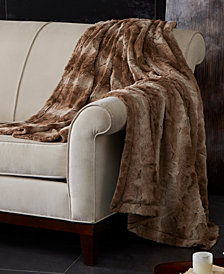 "Madison Park Zuri Reversible 60"" x 70"" Faux-Fur Throw"