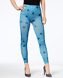 First Looks Women's Denim Star Seamless Leggings, Created for Macy's