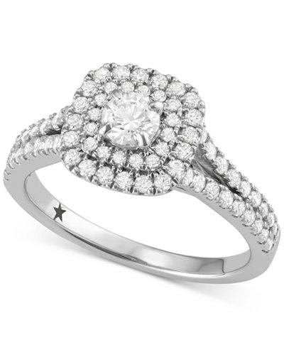 macys star signature diamond halo engagement ring 1 ct tw in 14k - Macys Wedding Rings