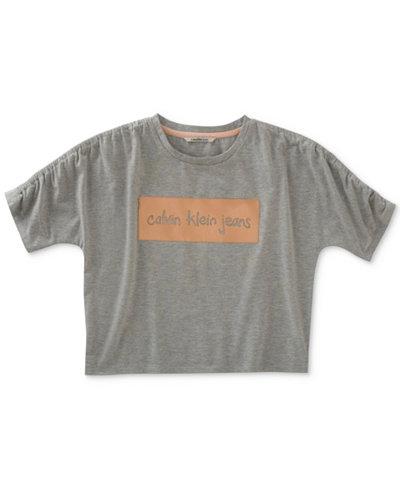 Calvin Klein Graphic-Print Knockout T-Shirt, Big Girls