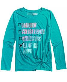 Ideology Checklist-Print T-Shirt, Big Girls, Created for Macy's