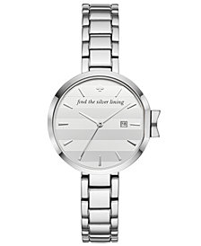 kate spade new york Women's Park Row Stainless Steel Bracelet Watch 34mm