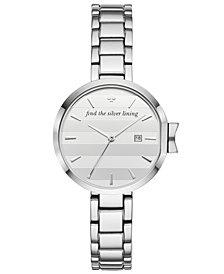 kate spade new york Women's Park Row Stainless Steel Bracelet Watch 34mm